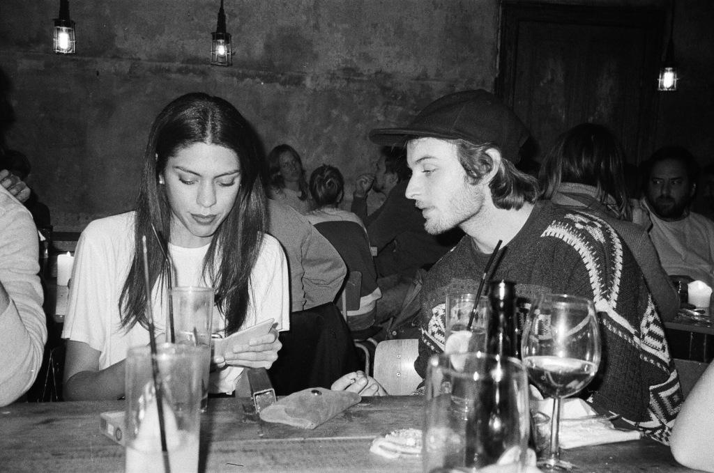 Sofía y Carlos en un bar que fuimos