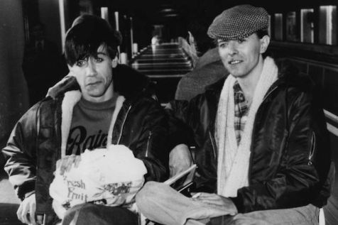 March 1977: Rock singers David Bowie, right, and Iggy Pop in Germany. (Photo by Evening Standard/Getty Images)