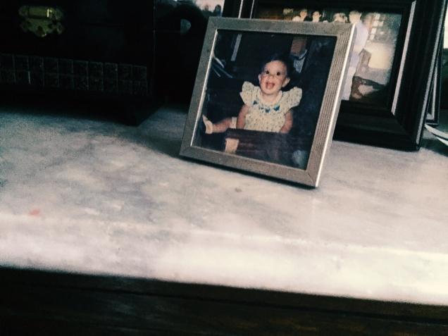 Gris & myself as a baby