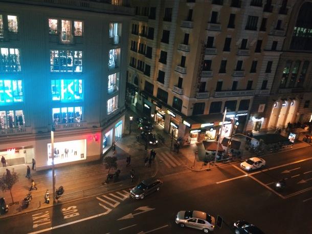 VISTA DESDE LA HABITACION DEL HOTEL - MADRID